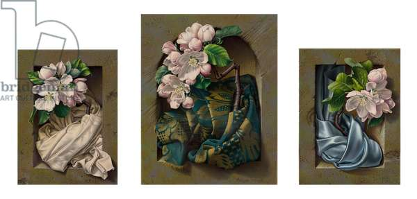 Blossom Triptych, 2007 (oil on canvas)