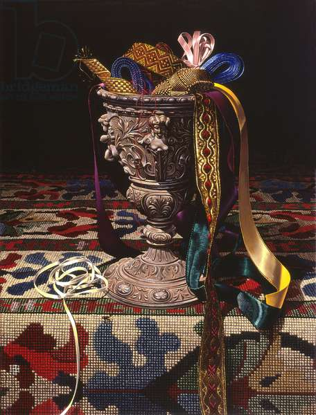 Ribbons, 2001 (oil on canvas)