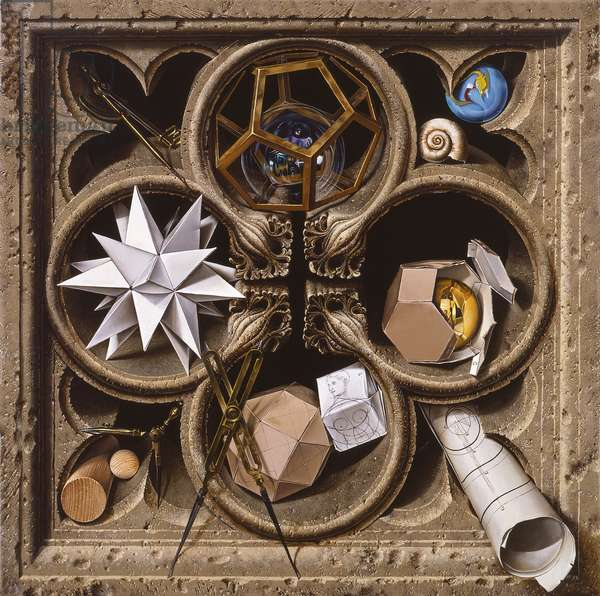 Geometry, 2001 (oil on canvas)