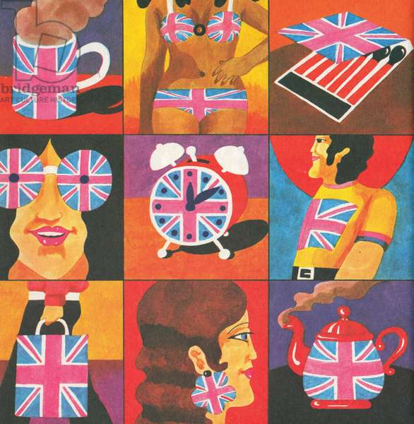 Merchandise, from 'Carnaby Street' by Tom Salter, 1970 (colour lithograph)
