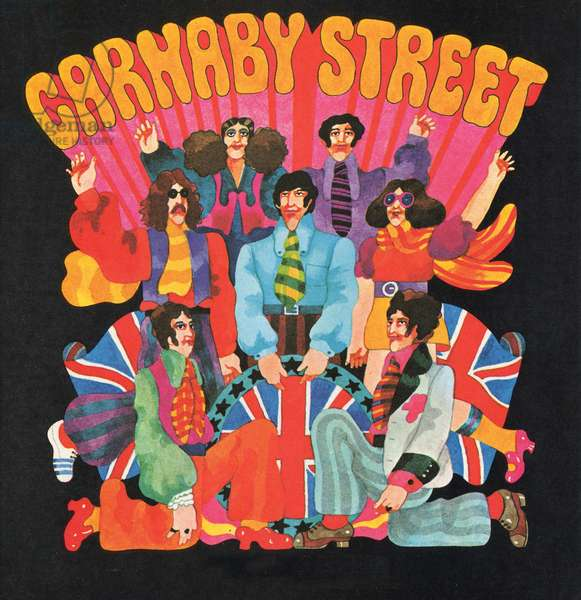 Carnaby Street, from 'Carnaby Street' by Tom Salter, 1970 (colour lithograph)