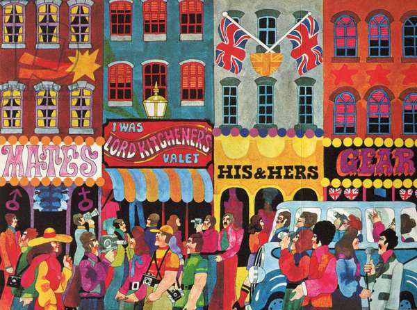A Saturday Morning 1, from 'Carnaby Street' by Tom Salter, 1970 (colour litho)