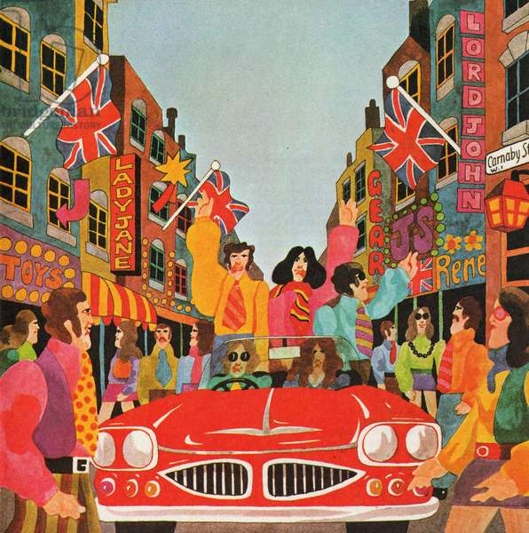 A Carnaby Scene, from 'Carnaby Street' by Tom Salter, 1970 (colour litho)