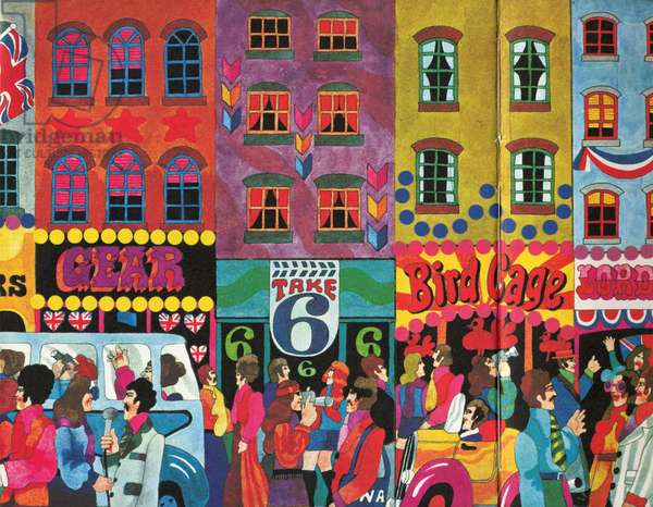 A Saturday Morning 2, from 'Carnaby Street' by Tom Salter, 1970 (colour litho)