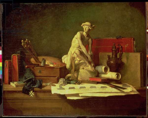 Still Life with the Attributes of the Arts, 1766