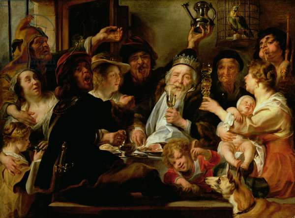 The Bean King (The King Drinks), c.1638