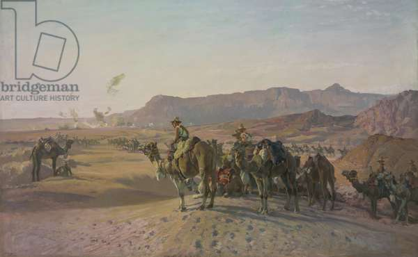 Camel Corps at Magdhaba, 1926 (oil on canvas)