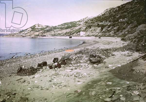 A view of Anzac Cove as it appeared in February 1919 (photo)