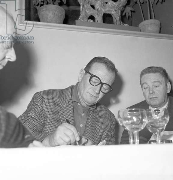 The actor John Wayne (b/w photo)
