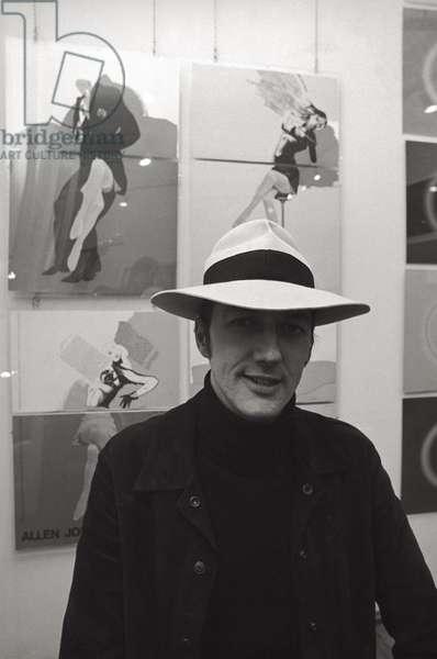 Allen Jones posing, Milan, Italy, 1968