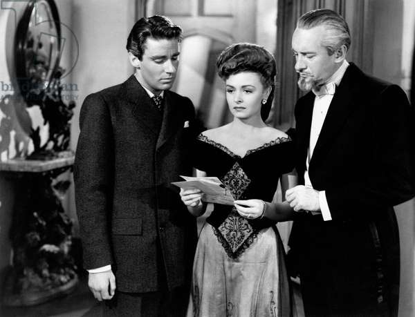 Peter Lawford, Donna Reed and George Sanders in 'The Picture of Dorian Gray', 1945 (b/w photo)