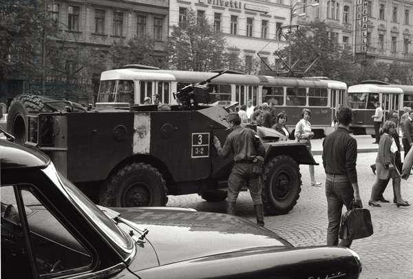Prague Spring, 1968 (b/w photo)