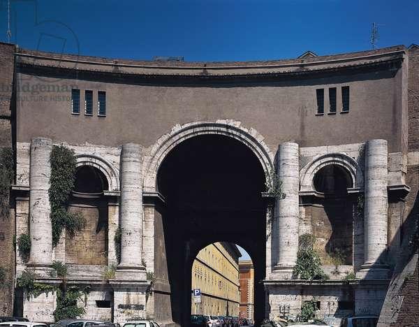 Porta Santo Spirito in Rome (Porta Santo Spirito a Roma), by Antonio Cordini detto Antonio da Sangallo il Giovane, 1542, 16th Century