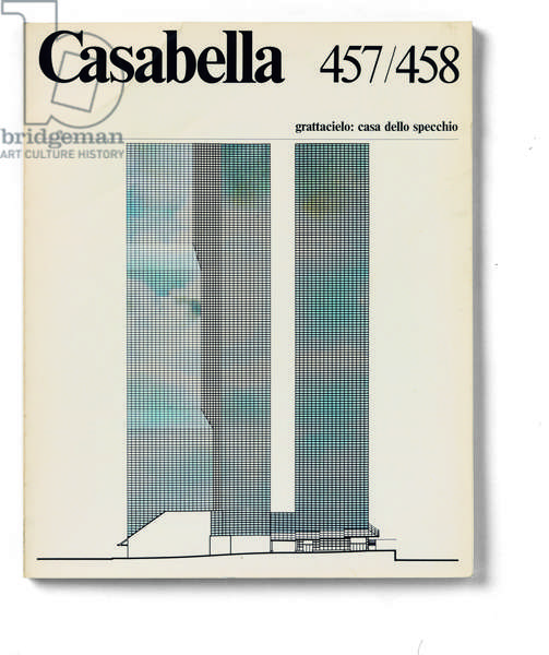 Cover of Casabella, N. 457-458, April-May 1980, 20th Century, graphic, 31 x 24,5 cm