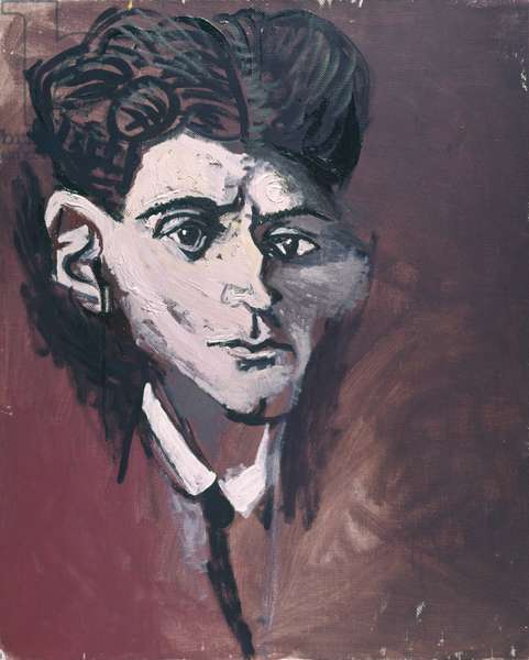Tribute to Kafka (Omaggio a Kafka), by Renato Guttuso, 1966, 20th Century, oil on canvas