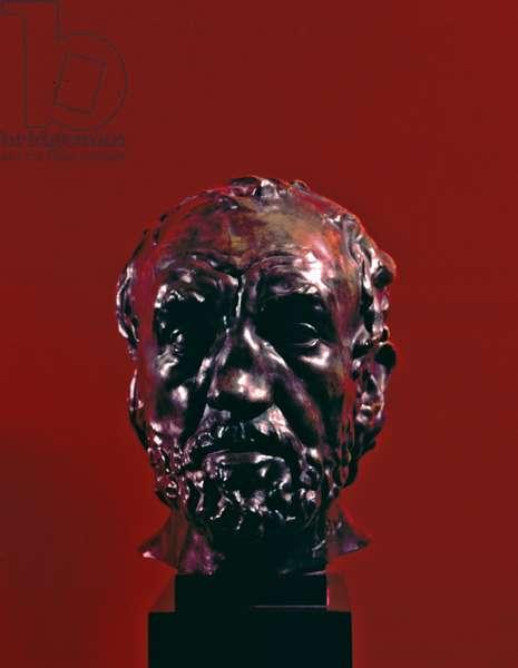 Man with a Broken Nose (Homme au nez cassé ), by Auguste Rodin, 1863, 19th Century, bronze, 27 x 23 x 27 cm
