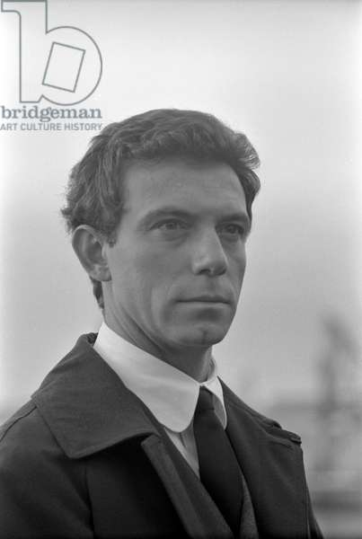 American actor Anthony Franciosa (Anthony George Papaleo, Jr,) on the set of the film Careless, Italy, 1961 (b/w photo)