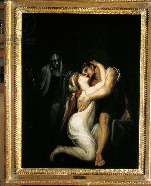 Penelope hugging Odysseus, by Henry Fuseli, 1803, 19th Century (oil on canvas)