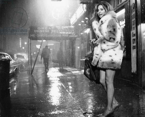Barbra Streisand under the rain