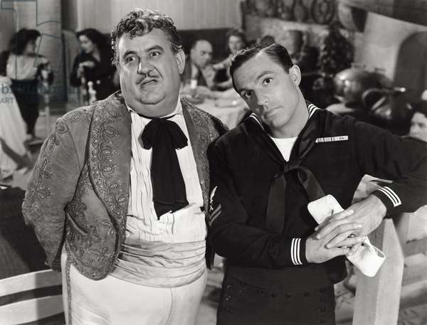 Gene Kelly and Billy Gilbert in 'Anchors Aweigh', 1945 (b/w photo)