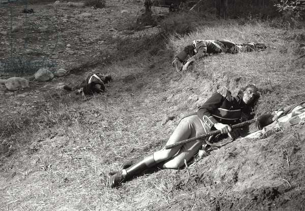 Mel Ferrer in a scene from King Vidor's 'War and Peace', 1955 (b/w photo)