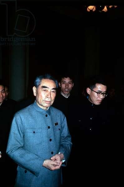 Portrait of Zhou Enlai , Beijing, China