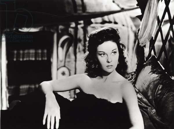 Susan Hayward in 'The Conqueror', 1956 (b/w photo)