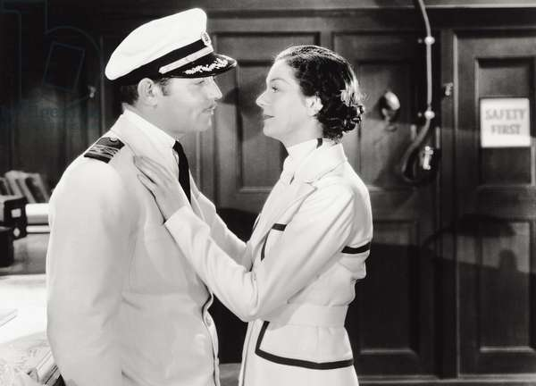 Clark Gable and Rosalind Russell in 'China Seas', 1935 (b/w photo)