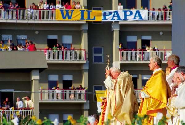 Pope John Paul II and Salvatore Pappalardo, Mazara del Vallo, Italy