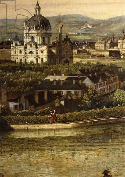 View of Vienna from the Belvedere, by Bernardo Bellotto, 1759-1760, XVIII century, oil on canvas, 135 x 213 cm.