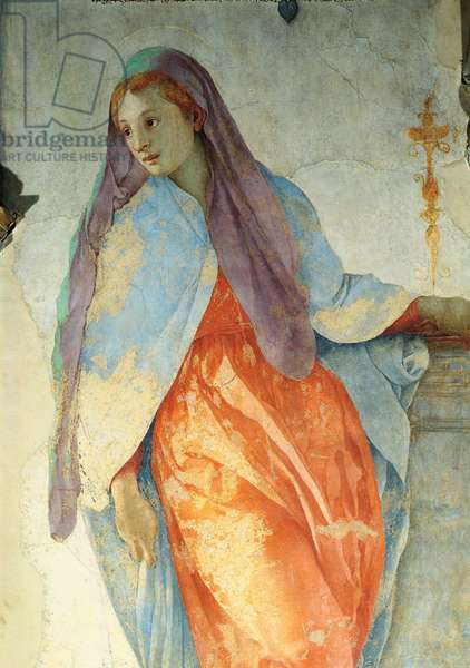Announciation, by Jacopo Carrucci also called Pontormo, 1525 - 1528, 16th Century, fresco