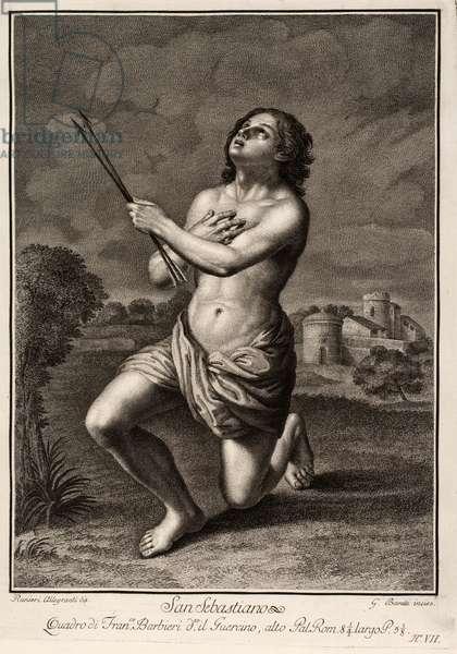 Saint Sebastian, 17th century (engraving)