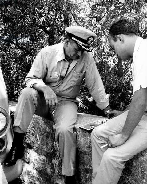 John Wayne and Brandon De Wilde in In Harm's Way, 1965 (b/w photo)