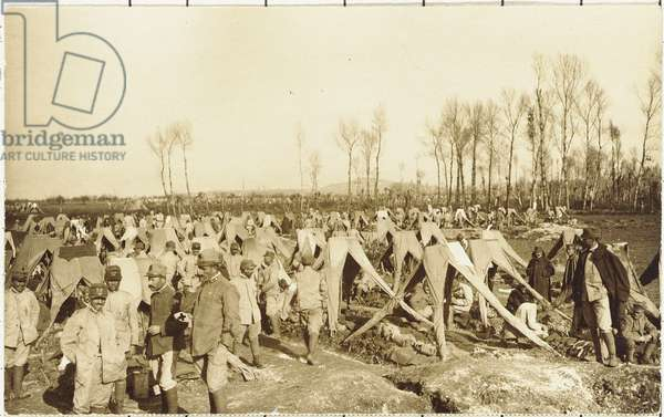 Military encampment in the neighbourhood of Gorizia after the taking of the city , Gorizia, Italy