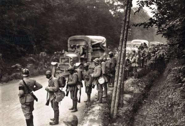 German troops in the street