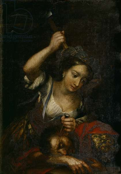 Yael killing Sisara (Giaele uccide Sisara), by Andrea Celesti, 17th Century, oil on canvas