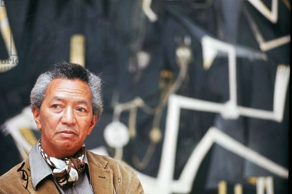 Wifredo Lam at the Venice Biennale, Italy, 1972 (photo)