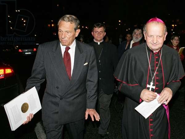 Joaquin Navarro-Valls and Stanislaw Dziwisz, Roma, Italy, 2005 (photo)
