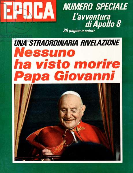 John XXIII on a weekly magazine cover