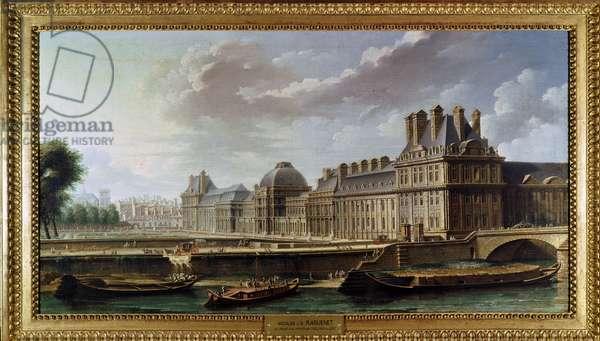The Palace and Garden of the Tuileries (Le Palais des Tuileries, vu du quai d'Orsay), by Nicolas-Jean-Baptiste Raguenet, 18th Century