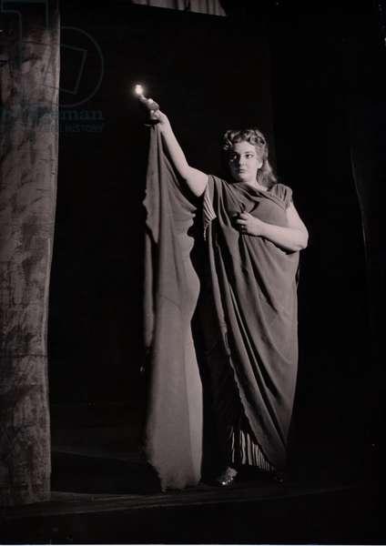 Maria Callas as Norma, Italy, 1952 (b/w photo)