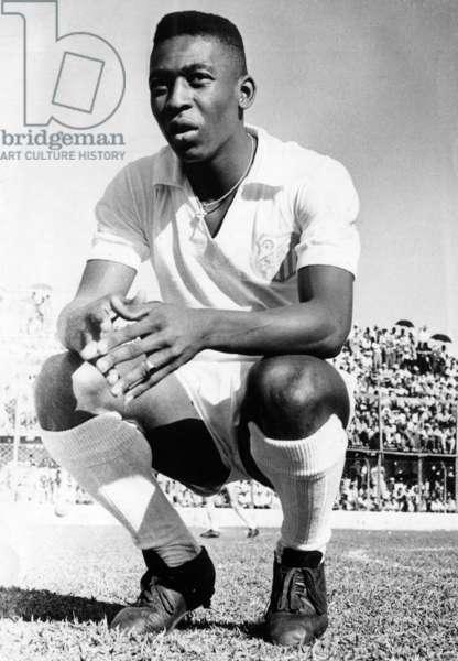 Pele on a football field