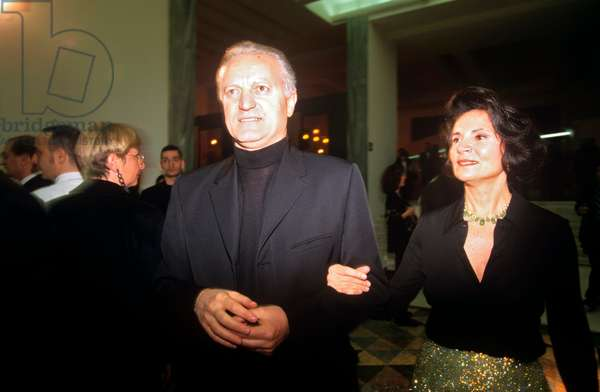 Santo Versace and Wanda Galtrucco at a public event, Milan, Italy