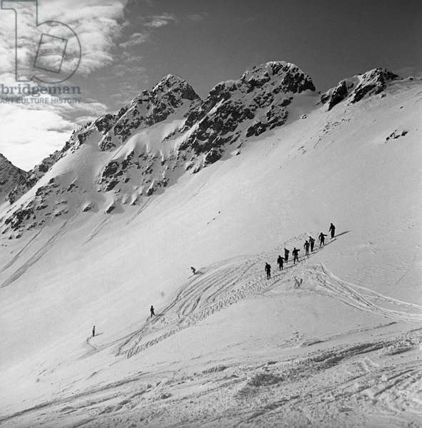 People skiing in Sestriere, Sestriere, Italy