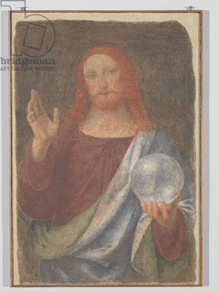 The Blessing Redeemer. (fresco transferred to canvas)