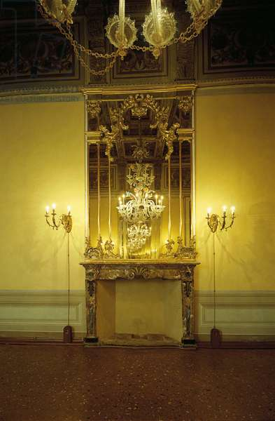 Cattaneo Palace in Cremona (Palazzo Cattaneo a Cremona), 17th Century, carved and gilded wood, marble