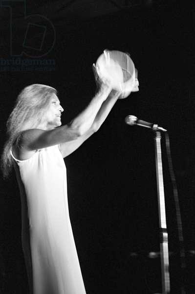 Dalida in concert, Italy, 1968 (b/w photo)