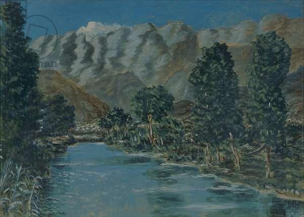 The cold river, 1949 (tempera on masonite)