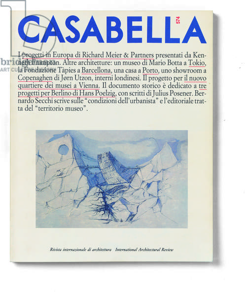 Cover of Casabella, N. 574, December 1990, 20th Century, graphic, 31 x 28 cm