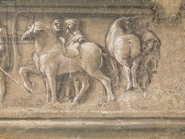Heraclitus and Democritus (Eraclito e Democrito), by Bramante, c. 1487, 15th century (fresco)